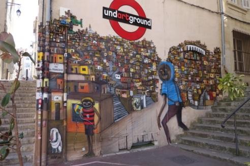 Street art in Le Panier