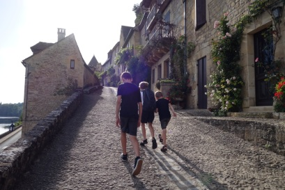 Walking around cobblestoned villages is not interesting for children