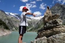 Rock sculptures at Lake Gelmer
