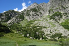 We walked down this small mountain from Lake Gelmer (1850m) - hair-raising at times with sheer, terrifying drops.