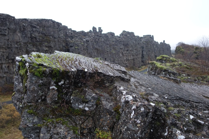 Rapidly cooled lava at Þingvellir