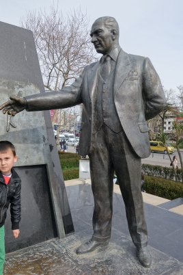 Ataturk - one of many statues of the man who imagined a secular future for Turkey